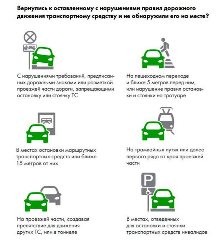 За что могут эвакуировать автомобиль и как его возвращать