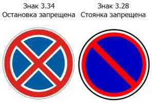Знак стоянка заборонена