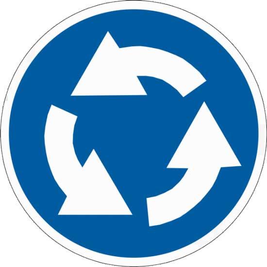 Правила выезда с кругового движения